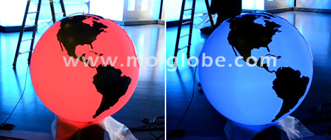 Illuminated globe sphere