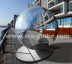 Giant metal sphere stainless steel