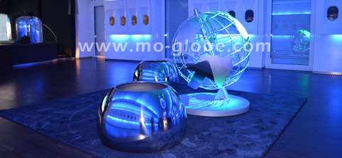 metal globe sculpture