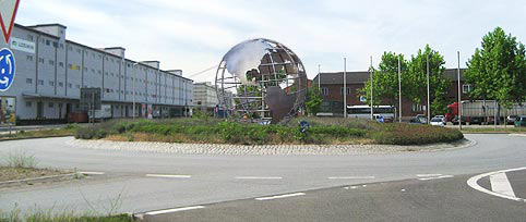 Wire Metal Globe on a roundabout